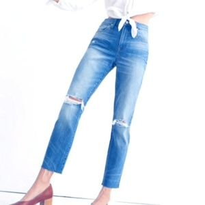 Madewell The Slim Boyfriend Jean Knee Rip Edition